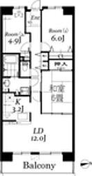 白井ロジュマン[6階]の間取り