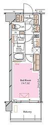 京急空港線 糀谷駅 徒歩4分の賃貸マンション 7階1Kの間取り