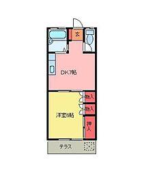 北坂戸ハイツ[1階]の間取り