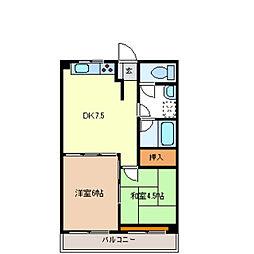 ATマンション[3階]の間取り