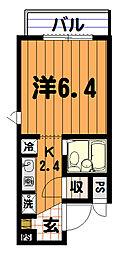 ルート若松町マンション[3階]の間取り