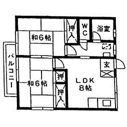 コーポ松本[203号室]の間取り