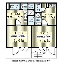 東京都渋谷区神宮前3丁目の賃貸マンションの間取り
