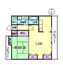 FLOSI[2階]の間取り
