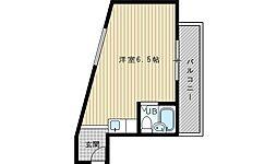 阪急千里線 吹田駅 徒歩11分の賃貸マンション 1階ワンルームの間取り
