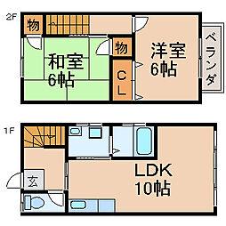[テラスハウス] 滋賀県大津市堅田1丁目 の賃貸【/】の間取り