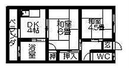 小谷アパート[102号室]の間取り