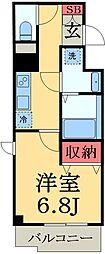 京成本線 京成臼井駅 徒歩2分の賃貸マンション 7階1Kの間取り