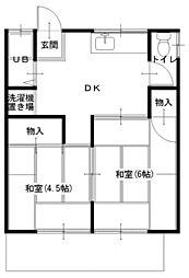 セトアパート[101号室]の間取り