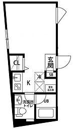 プラティーク高井戸[-1階]の間取り