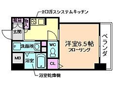アクアプレイス梅田5[12階]の間取り