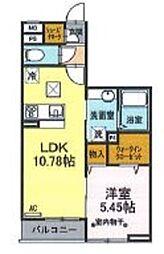 フォレストヤマザキ 1階1LDKの間取り