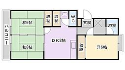 メゾンファミール本町[4階]の間取り