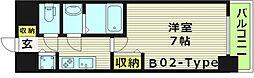 プレサンス水都OKAWA 5階1Kの間取り