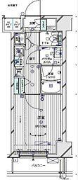 メインステージTOKYO・NORTH HY's 9階1Kの間取り