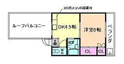 プルシャン桜井[4階]の間取り