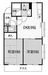 多摩川メモリーハイム[3階]の間取り