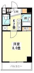 新堂フラット[4階]の間取り
