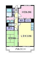 メゾンドプリマベーラ[6階]の間取り