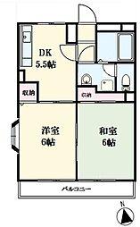 リヴァリー成城[306号室]の間取り