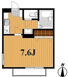 東京都江戸川区南小岩8丁目の賃貸アパートの間取り