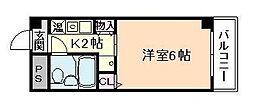 大阪府大阪市北区豊崎2丁目の賃貸マンションの間取り
