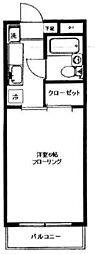 クレスト・モア[1階]の間取り