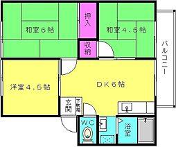 サンシティ東加古川B[204号室]の間取り