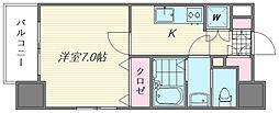 サヴォイ箱崎セントリシティ[1401号室]の間取り