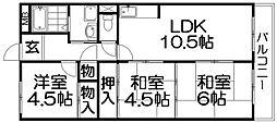 キャピタル・キダ[3階]の間取り