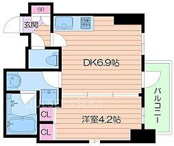 プレジオ東天満[8階]の間取り