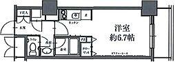 HF駒沢公園レジデンスTOWER 29階ワンルームの間取り