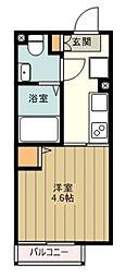 西武新宿線 上石神井駅 徒歩11分の賃貸マンション 1階1Kの間取り