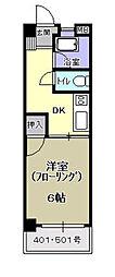 コーポ松永[401号室]の間取り