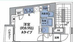JR中央線 中野駅 徒歩8分の賃貸マンション 5階ワンルームの間取り