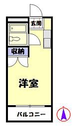 東京都八王子市楢原町の賃貸マンションの間取り