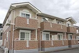 愛知県岡崎市赤渋町字道本の賃貸アパートの外観