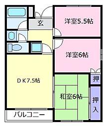 WAKOマンション[3階]の間取り