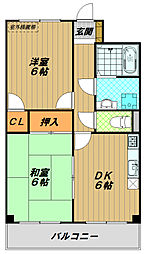KUSABAマンション[3階]の間取り