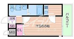 W.O.B京橋 5階ワンルームの間取り