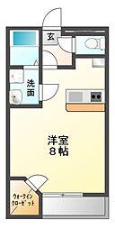 愛知県豊川市三蔵子町西浦の賃貸アパートの間取り