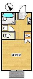 プレジール板倉[1階]の間取り