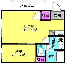 Eclat Futami[3階]の間取り
