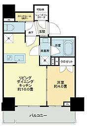ライオンズ千代田岩本町ミレス-KDA 9階1LDKの間取り