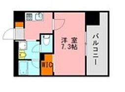 仮称)LANDIC 美野島3丁目 7階1Kの間取り
