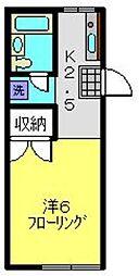 ドミール池田[105号室]の間取り