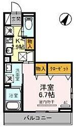 JR京浜東北・根岸線 大宮駅 徒歩19分の賃貸アパート 1階1Kの間取り