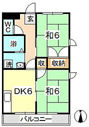 マンション吉野[203号室]の間取り