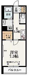 JR山手線 高田馬場駅 徒歩5分の賃貸マンション 1階1Kの間取り