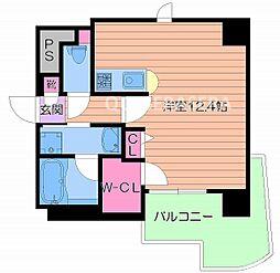 大阪府大阪市中央区大手通1丁目の賃貸マンションの間取り